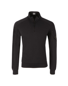 CP Company Mens Blue Half Zip Sweat