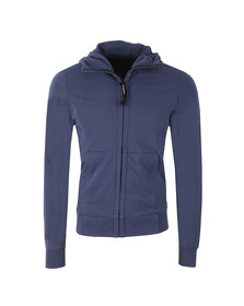 CP Company Mens Blue Full Zip Goggle Hoody