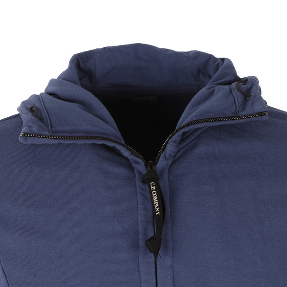 CP Company Mens Blue Full Zip Goggle Hoody main image