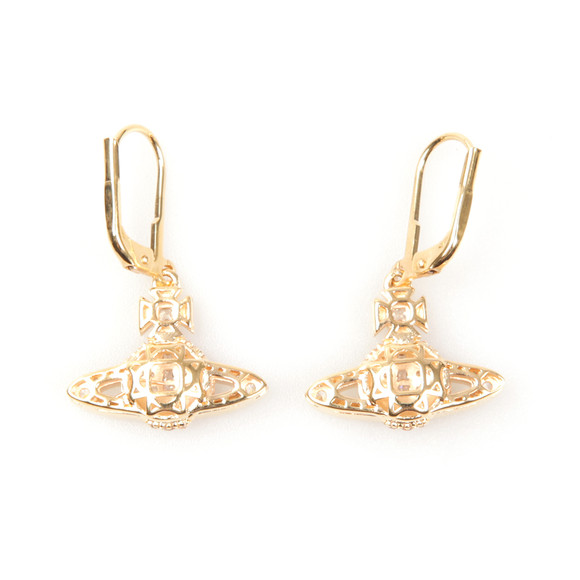 Vivienne Westwood Womens Gold Clotilde Orb Earrings main image