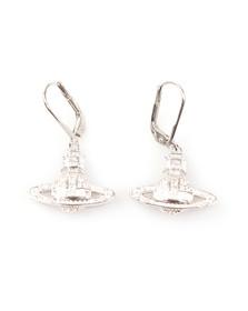 Vivienne Westwood Womens Silver Clotilde Orb Earrings