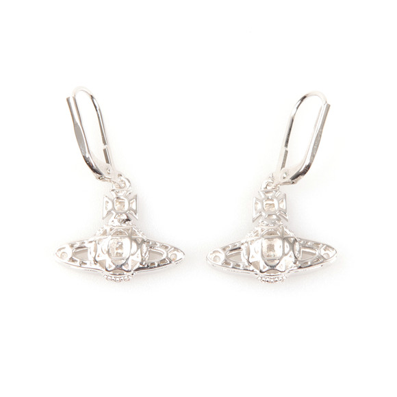 Vivienne Westwood Womens Silver Clotilde Orb Earrings main image