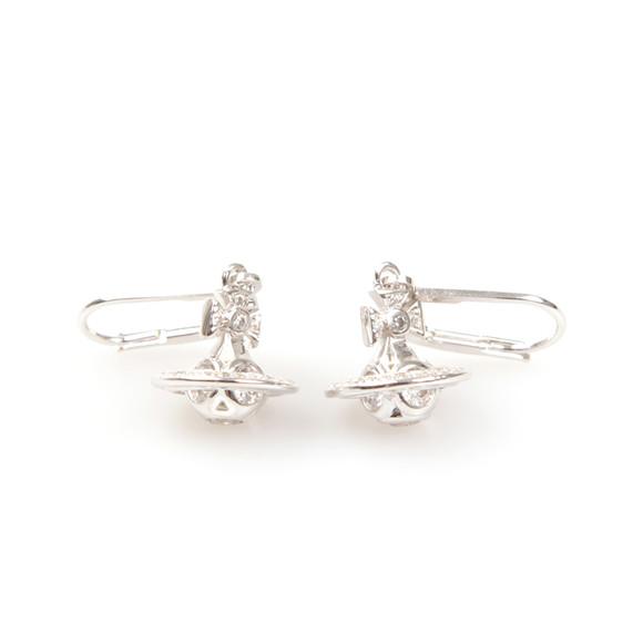 Vivienne Westwood Womens Silver Nicolette Orb Earrings main image