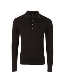 Paul Smith Mens Black Knitted Long Sleeve Polo Shirt