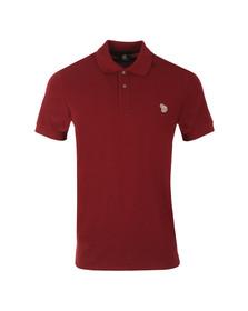Paul Smith Mens Red Basic Zebra Logo Burgundy Polo