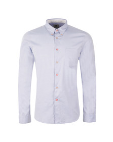 Paul Smith Mens Blue Tailored Fit Oxford Shirt