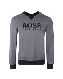 Boss Mens Blue Large Logo Sweatshirt