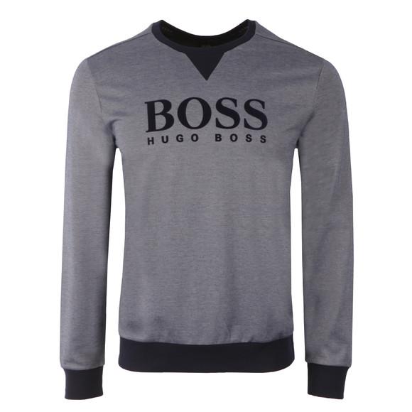 Boss Mens Blue Large Logo Sweatshirt main image