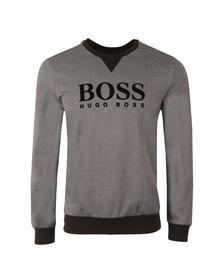 Boss Mens Black Large Logo Sweatshirt