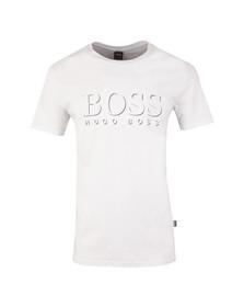 Boss Mens White Large Logo UV T Shirt