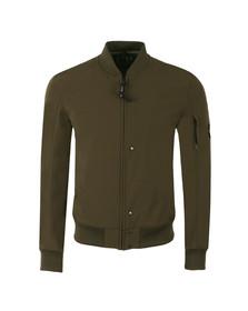 CP Company Mens Green Soft Shell Bomber Jacket