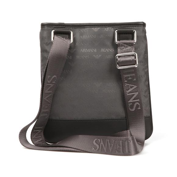 Armani Jeans Mens Grey Allover Logo Bag main image