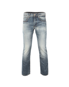 G-Star Mens Blue 3301 Higa Straight Denim Jean