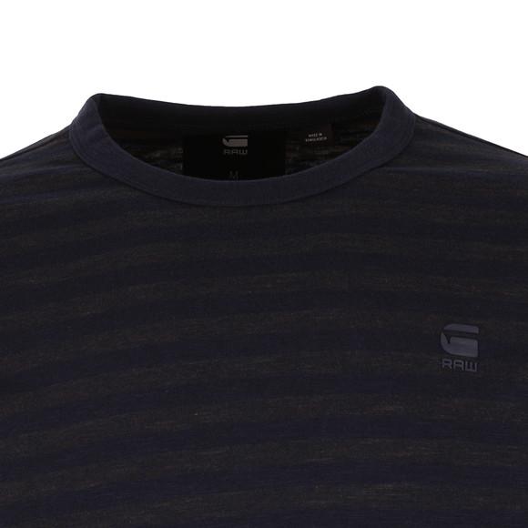 G-Star Mens Blue Phaen Stripe LS T-Shirt main image
