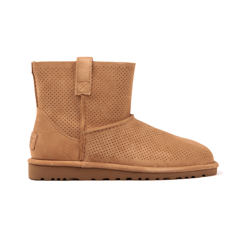 a0a6b2e8799 Womens Beige Classic Unlined Mini Perforated Boot