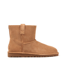 Ugg Womens Beige Classic Unlined Mini Perforated Boot