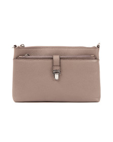 Michael Kors Womens Grey Mercer Large Snap Pocket Crossbody
