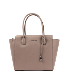 Michael Kors Womens Grey Mercer Large Satchel