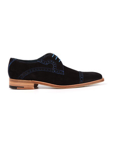 Barker Mens Blue Ashton Suede Shoe