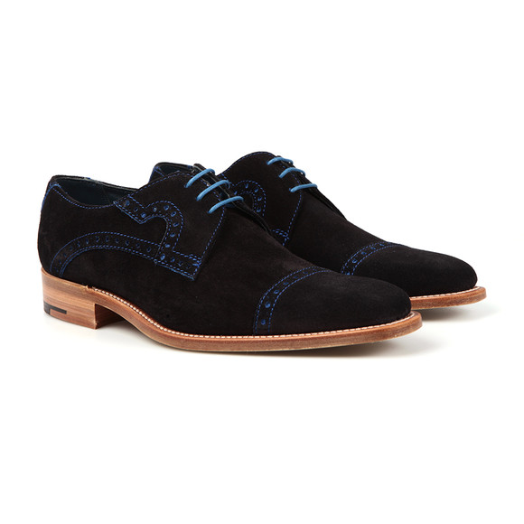 Barker Mens Blue Ashton Suede Shoe main image
