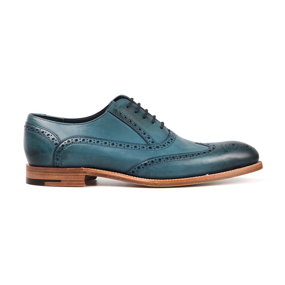 Barker Mens Blue Valiant Hand Painted Shoe