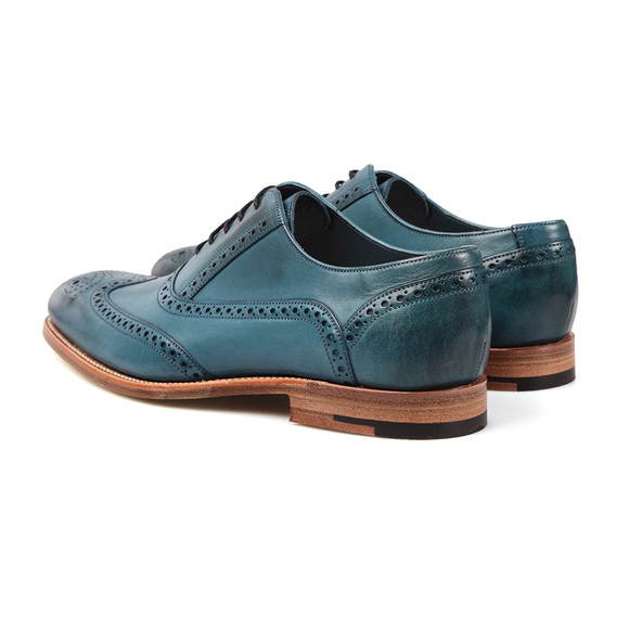 Barker Mens Blue Valiant Hand Painted Shoe main image