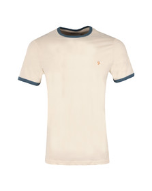 Farah Mens White Groves Ringer T-Shirt