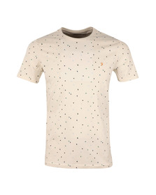 Farah Mens Off-white Bradshaw Printed T-Shirt