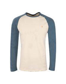 Farah Mens Blue Zemlack Raglan T-Shirt