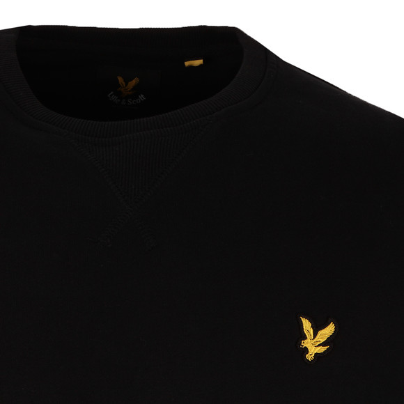 Lyle and Scott Mens Black Crew Neck Sweat main image
