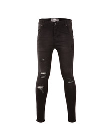 Sik Silk Mens Black Distressed Skinny Jean