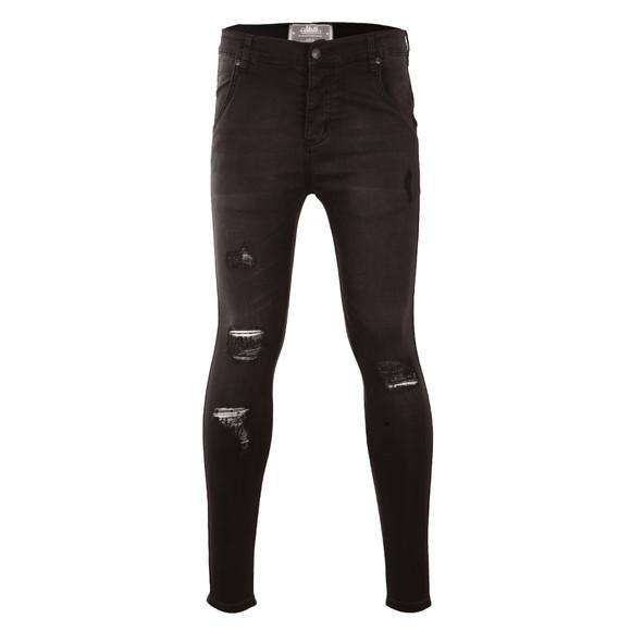 Sik Silk Mens Black Distressed Skinny Jean main image
