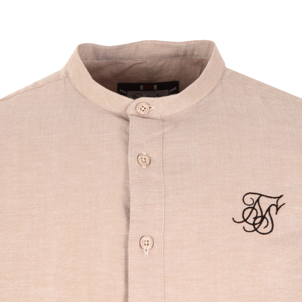 Jersey Long Sleeve Shirt with Contrast Sleeves main image