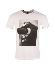 Replay Mens White Printed T-Shirt