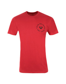 True Religion Mens Red Crafted With Pride Crew T-Shirt