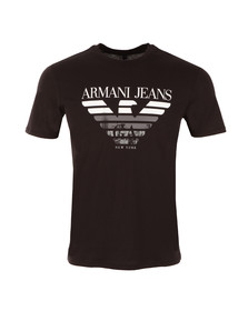 Armani Jeans Mens Black New York Logo T Shirt