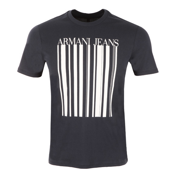 Armani Jeans Mens Blue Stripe Logo T Shirt main image