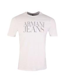 Armani Jeans Mens White Large Logo T Shirt