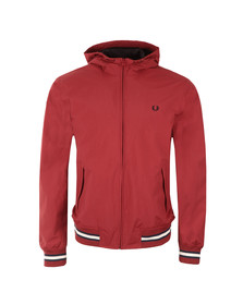 Fred Perry Mens Red Tipped Hooded Brentham Jacket