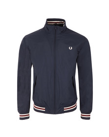 Fred Perry Mens Blue Funnel Neck Tipped Bomber