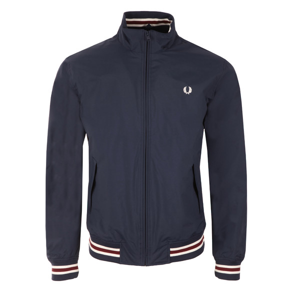 Fred Perry Mens Blue Funnel Neck Tipped Bomber Jacket main image