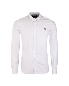 Fred Perry Mens Blue Oxford Pinstripe Shirt