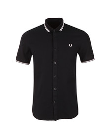Fred Perry Mens Blue Twin Tipped Waffle Shirt