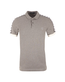 Fred Perry Sportswear Mens Grey Taped Pique Polo Shirt