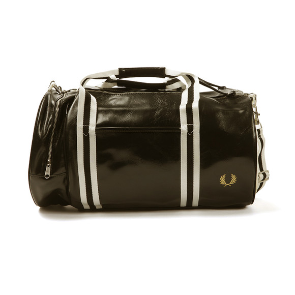 Fred Perry Sportswear Mens Black Classic Barrel Bag main image