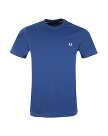 Fred Perry Mens Blue Crew Neck T-Shirt