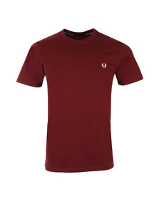 Fred Perry Mens Red Crew Neck T-Shirt