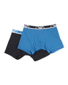 Emporio Armani Mens Black 2 Pack Boxer Brief