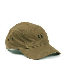 Fred Perry Mens Green Cotton Twill Baseball Cap