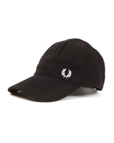 Fred Perry Mens Black Classic Pique Cap
